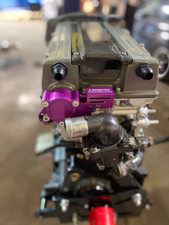 Evo 8 Anodized purple adjustable reverse cam sensor housing